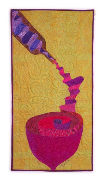 Cara Gulati - Ribbons of Wine - 51x102
