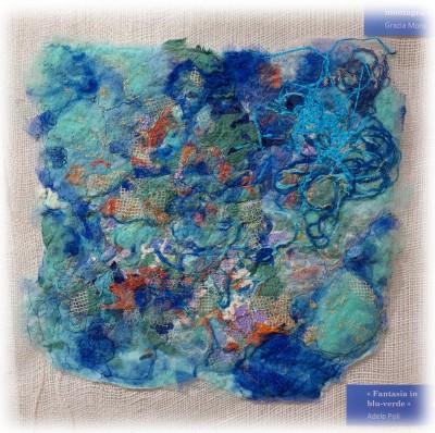 Adele Poli - Fantasia in blu-verde